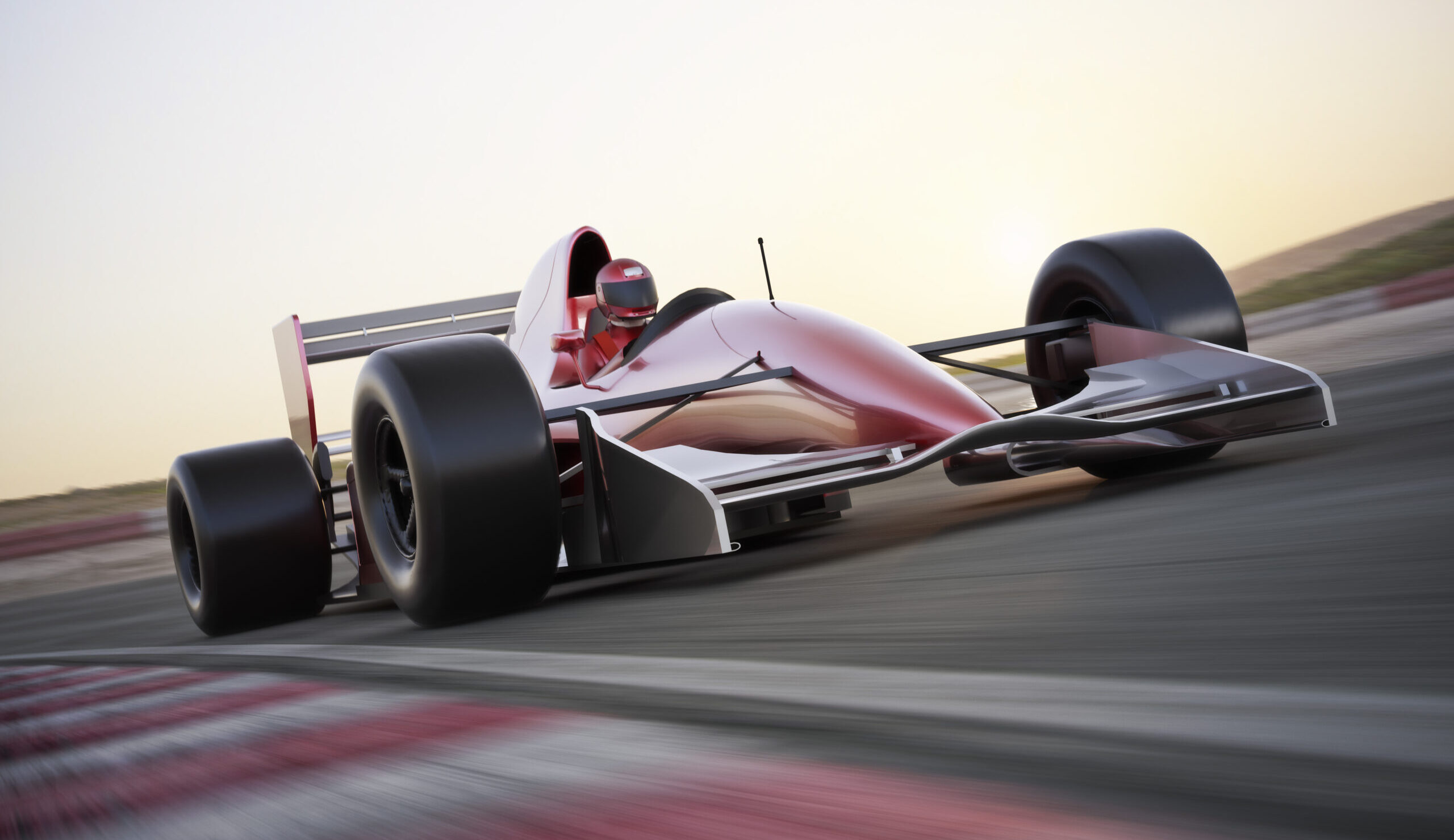 racecar driver going fast like line of credit loans from rushfire.io