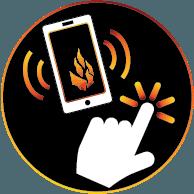 Loan Process Icon: Call or Click