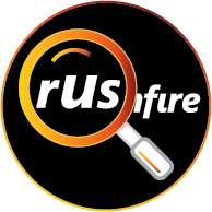 rushfire with magnifying glass icon