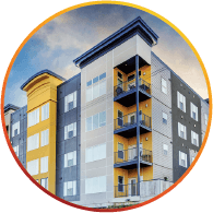 yellow and gray condominium